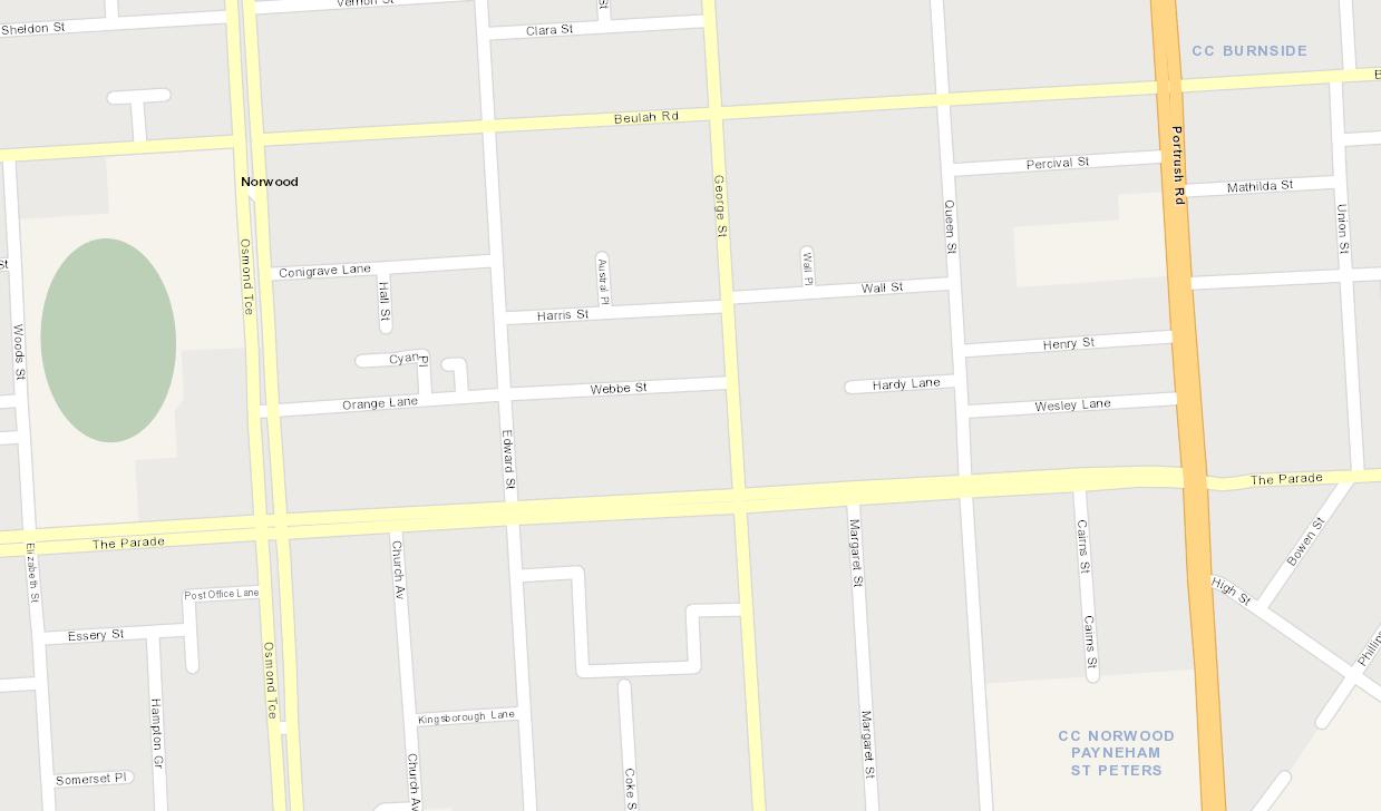 Map Norwood